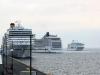 Krydstogtskibe ved Ocean Kaj 5. juli 2014