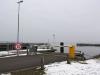 SejerøFærgen i dens hvide farve 17. februar 2013