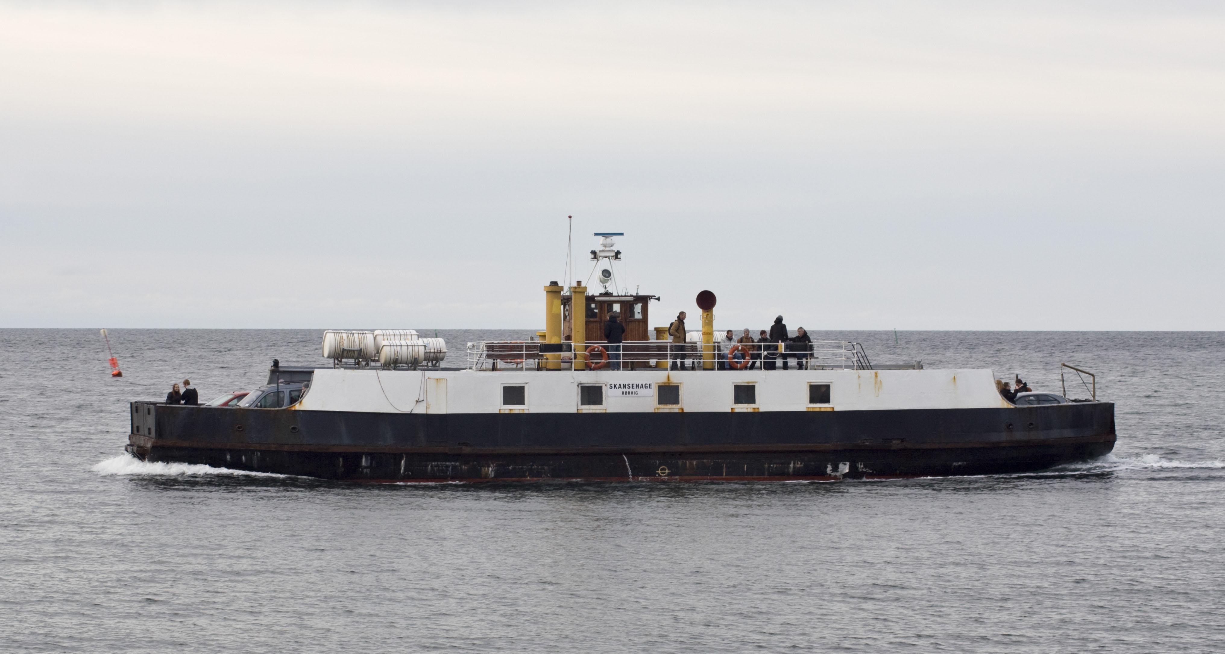 Skansehage ved Hundested med kurs mod Rørvig 22. februar 2013
