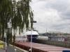 Ved sluserne i Brunsbüttel set fra kanal siden 11. august 2013