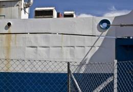 Mercandia 8 hvor man kan skimte dens tidligere navn - Superflex Bravo Nyborg 22. juli 2012