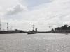 Ved sluserne i Brunsbüttel set fra kanal siden 8. august 2013