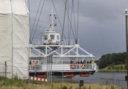 Ved Svævefærgen i Rendsburg 10. august 2013