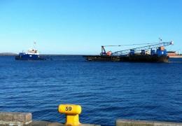 Slæbebåden Tessa V ved Lange Linie 3. marts 2013